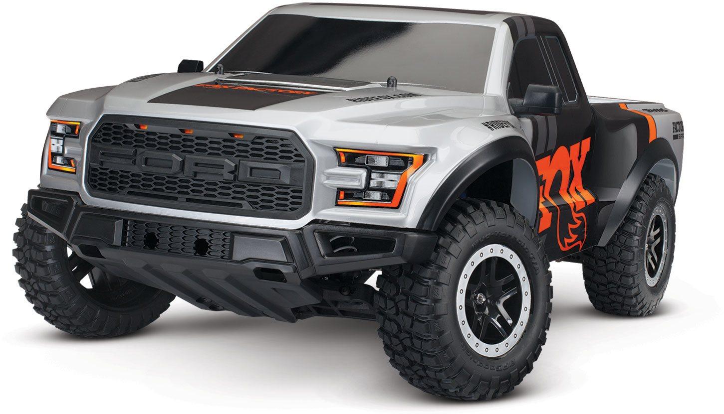 Traxxas Fox Edition Ford Raptor 1/10 Scale 2Wd Rtr Truck W/ Nimh Id Batt