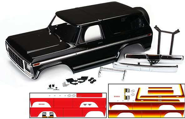 Traxxas BODY, FORD BRONCO, COMPLE
