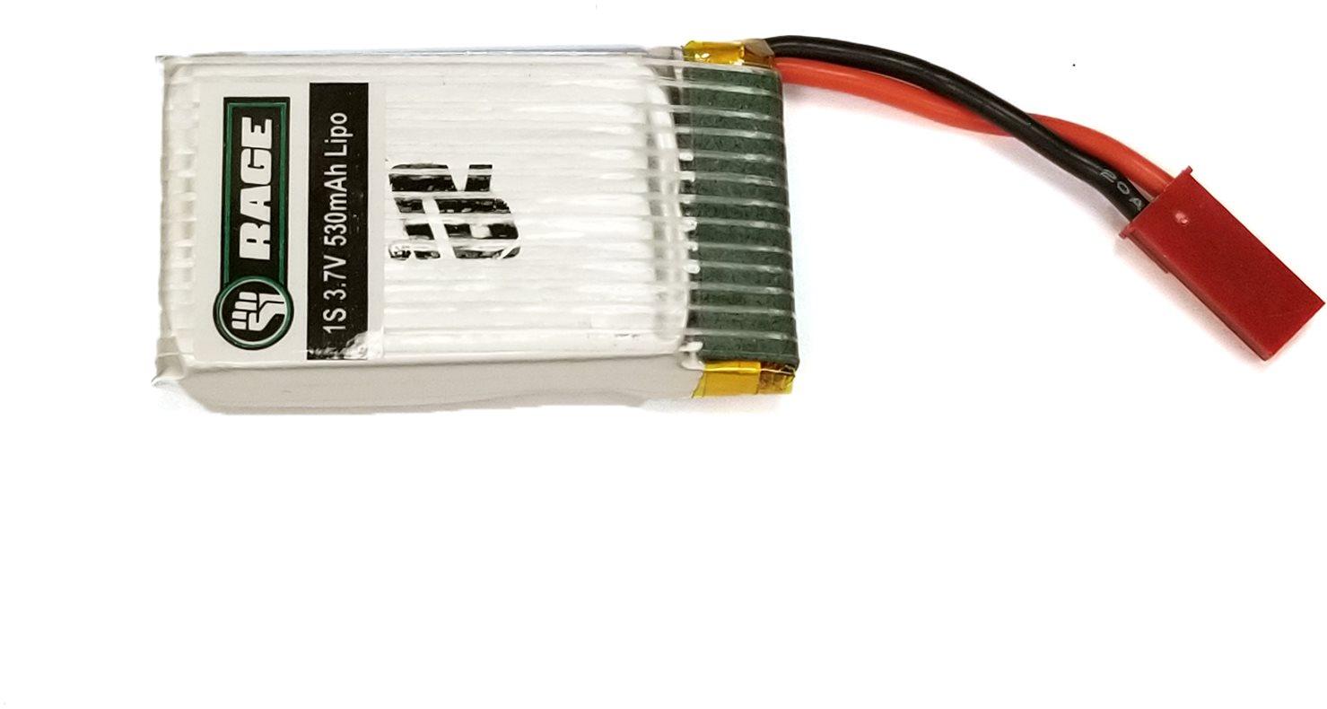 Rage RC 1S 3.7V 530Mah Lipo Battery: Hoverjet