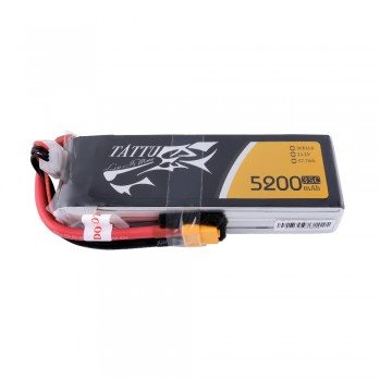 Gens Ace Tattu 11.1 v 5200mah 3s 35C Lipo Battery Pack with XT60 plug