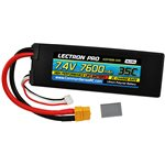 Lectron Pro 7.4V 7600mAh 35C Lipo Battery with XT60 Connector +