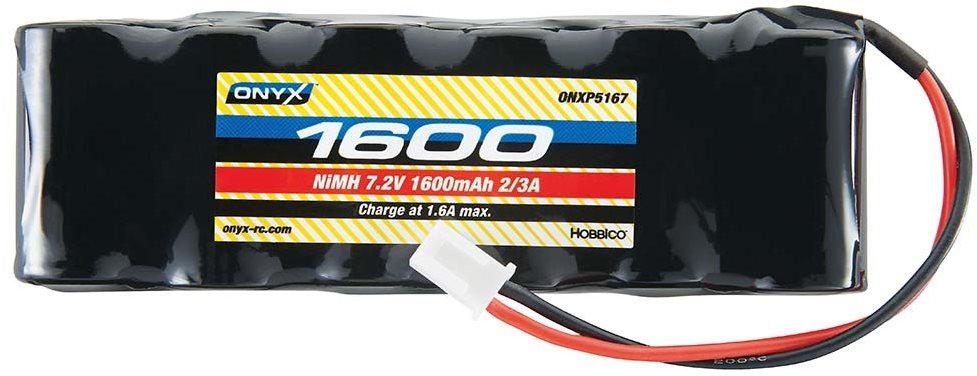 Onyx NiMH 7.2V 1600mAh 2/3A Flat Mini Plug