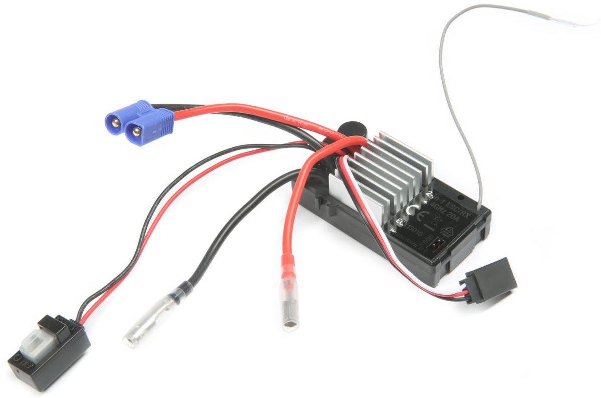 ECX ESC/Receiver,2.4GHz WP, V4: 1/10