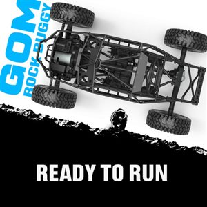 Gmade Gom Rockbuggy Rtr, Brushed 1/10 Scale, W/ Gr01 Chassis And 2.4Gh