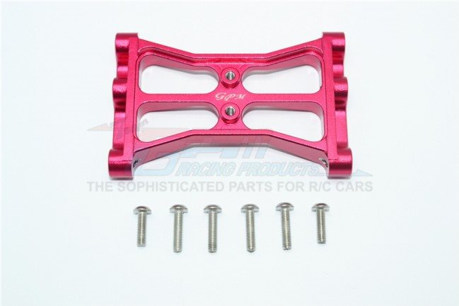GPM Racing Aluminum Chassis Crossmember - Red