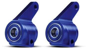 Traxxas Alum Steering Blocks Blue (2) W/Bearings