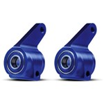 Alum Steering Blocks Blue (2) W/Bearings