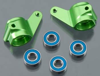 Traxxas Steering Blocks,Rustler/Bandit /Stampede (2) Green Anodized