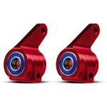 Traxxas Alum Steering Blocks Red (2) W/Bearings