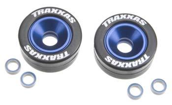 Traxxas Wheelie Bar Blue W/Rbbr Wheels