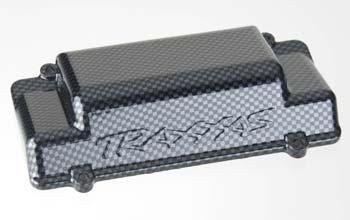 Traxxas Battery Box Cover/Bumper Rear Exo-Carbon Finish