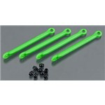 Traxxas Push Rod (4) Green, Hollow Balls (8)