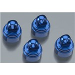 Alum Shock Caps (4) Blue Anodized (Fits All Ultra Shock