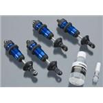 Traxxas Gtr Alum Shocks Assembled (4) Blue Anodized