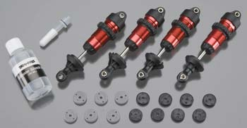 Traxxas Shocks GTR Alum Red-Anodized (4)