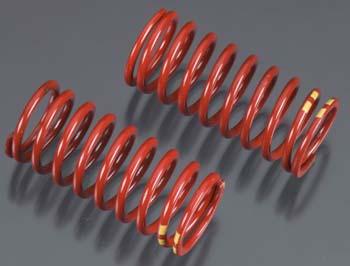 Traxxas Spring/Shock Red Long GTR 4.9 Rate Dbl Ylw Strp