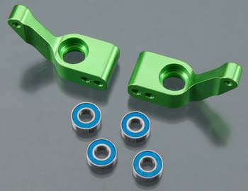 Traxxas Stub Axle Carriers, Rustler/ Stampede/Bandit Green Anod