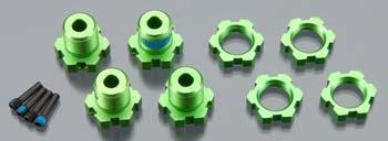 Traxxas 17Mm Wheel Hubs Green Anodized 17Mm Wheel Nuts