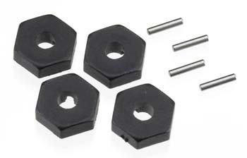 Traxxas Wheel Hubs, Hex (4)/ Axle Pins