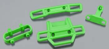 Traxxas Bumper, Front & Rear-Green Bumper Support Front & Rear