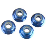 Traxxas 4Mm Alum Flanged Nylock Nuts Blue (4)