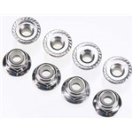 4Mm Flanged Nylock Nuts (8)