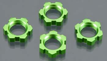Traxxas Wheel Nuts Splined 17mm Green (4)