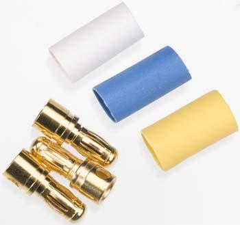 Traxxas 3.5Mm Male Bullet Connectors (3) W/ Heat Shrink