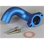 Header Blue Anodized Rustler 2.5