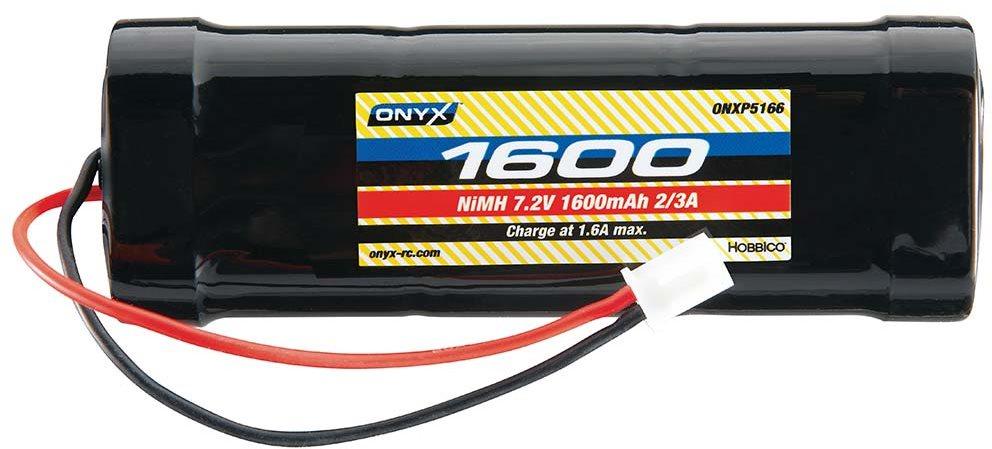 Onyx NiMH 7.2V 1600mAh 2/3A Stick Mini Plug