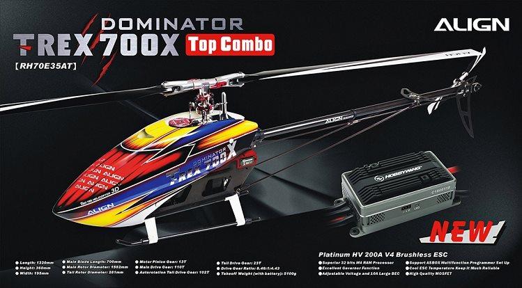 Align T-REX 700X TOP Combo (No Flybarless Unit)