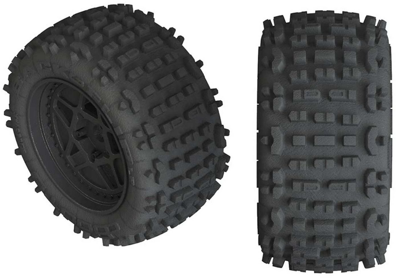 ARRMA dBoots Backflip LP 4S Tire 3.8 Glued Black (2)