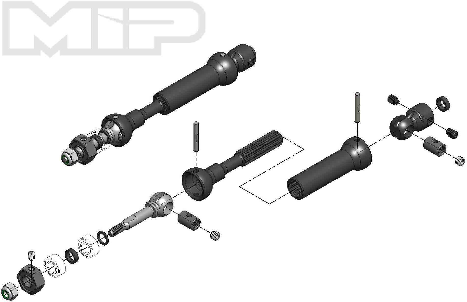 More\'s Ideal Products X-Duty Cvd Drive Kit, Rear, 87Mm To 112Mm W/ 10Mm X 5Mm Bearing,