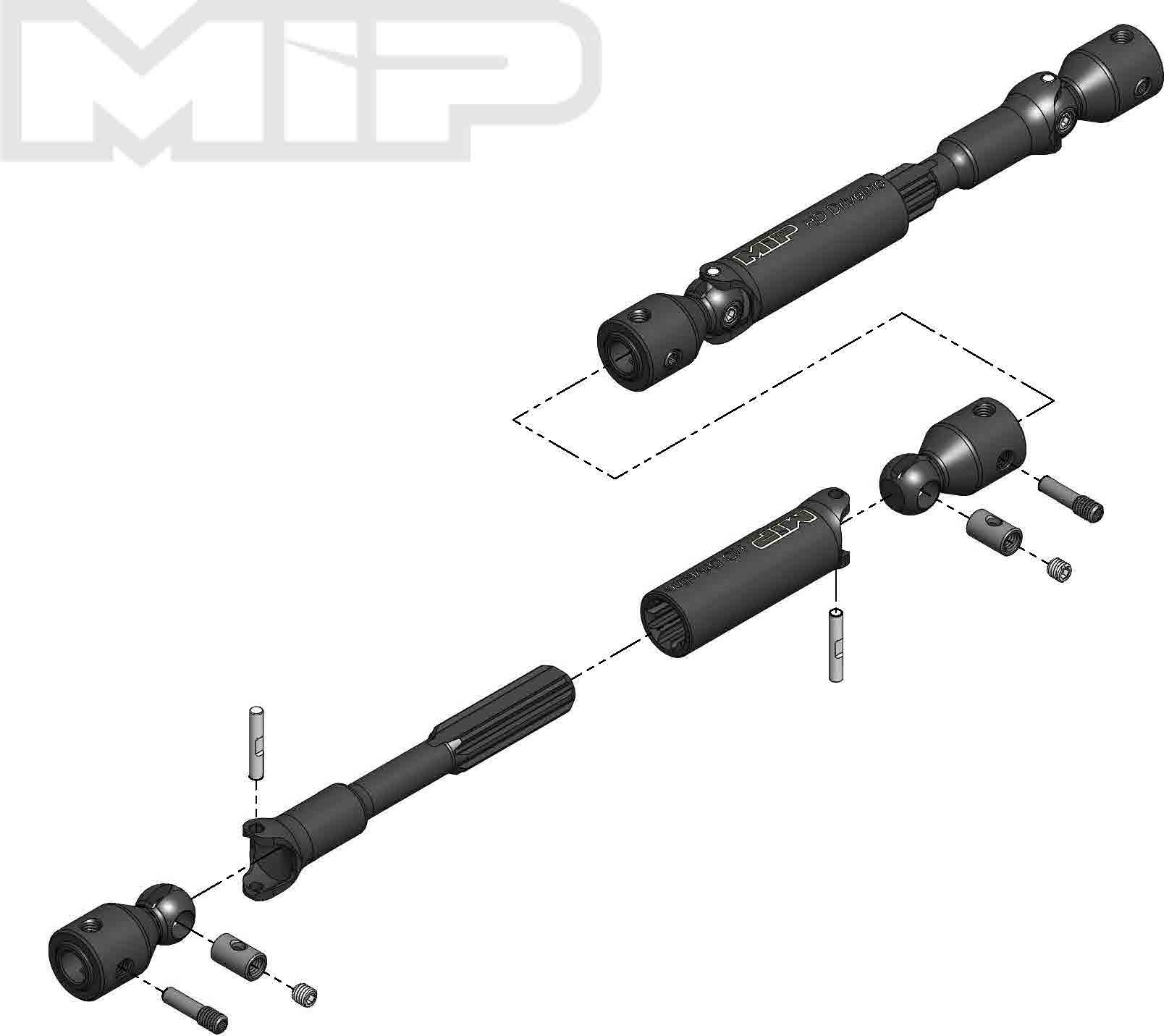 More\'s Ideal Products Hd Driveline Kit, Traxxas Trx-4 Bronco