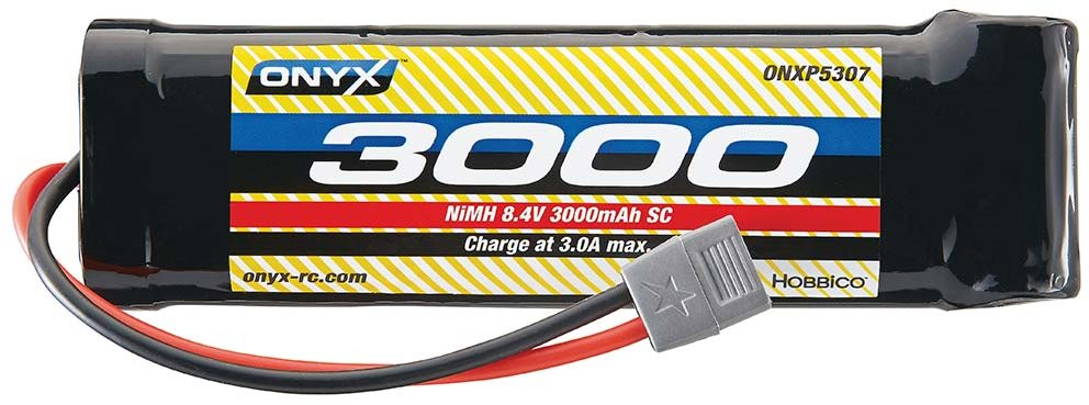 Onyx NiMH 8.4V 3000mAh Sub-C Stick Star Plug