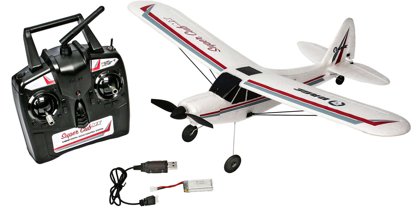 Rage RC Super Cub Mx Micro Ep 3-Channel Rtf Airplane
