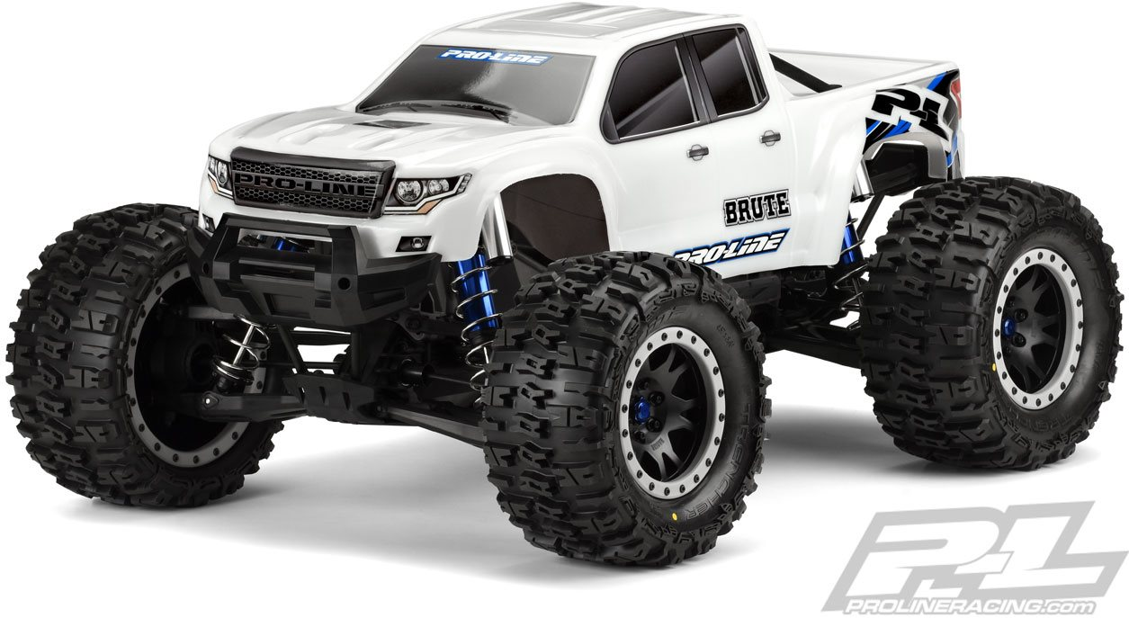 Proline Pre-Cut Brute Bash Armor Body (White), For Traxxas X-Maxx