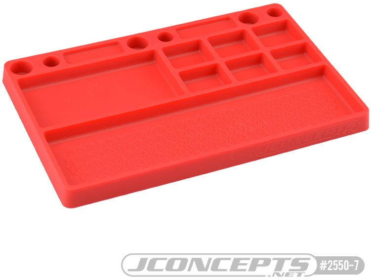 J Concepts Parts Tray, Rubber Material Red