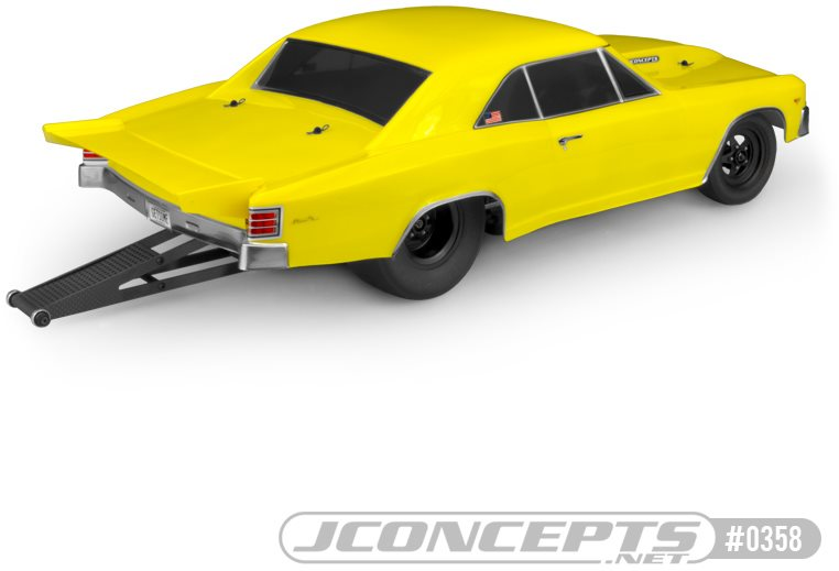 """J Concepts 1967 Chevy Chevelle Clear Body For 10.75\"""" Wide Sct"""