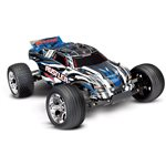 Rustler 1/10 Stadium Truck Blue, Rtr W/Id Battery & 4 Amp Peak D