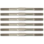 Associated Factory Team Titanium Turnbuckle Set, For Rc10b6.1, 3X48mm Silve