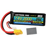 Common Sense RC Lectron Pro 7.4V 2000mAh 25C Lipo Battery with XT60 +  CSRC