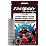 Fast Eddy 5x11x4 Rubber Sealed Bearing MR115-2RS (10 Units)