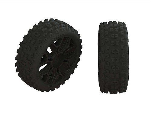 ARRMA 2HO Tire Set Glued Black