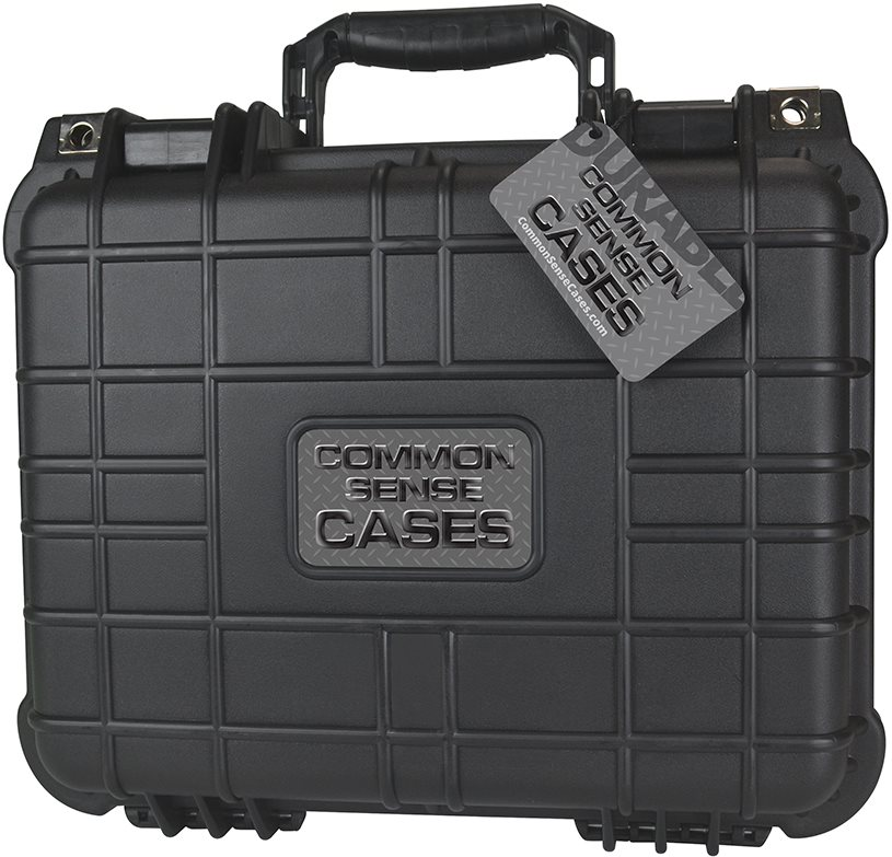 Common Sense RC Premium Weather Resistant Transmitter Case - Black - DIY Foam