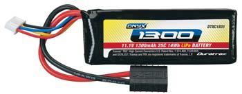 DuraTrax LiPo Onyx 3S 11.1V 1300mAh 25C Soft Case TRA