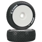 X-Cons 1/8 Buggy Tire C2 Mounted White (2)