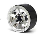 Boom Racing TE37LG KRAITT 1.9 Aluminum Beadlock Wheels w/ XT606 Hubs (4) Sil