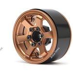 Boom Racing TE37LG KRAITT 1.9 Aluminum Beadlock Wheels w/ XT606 Hubs (4) Bro