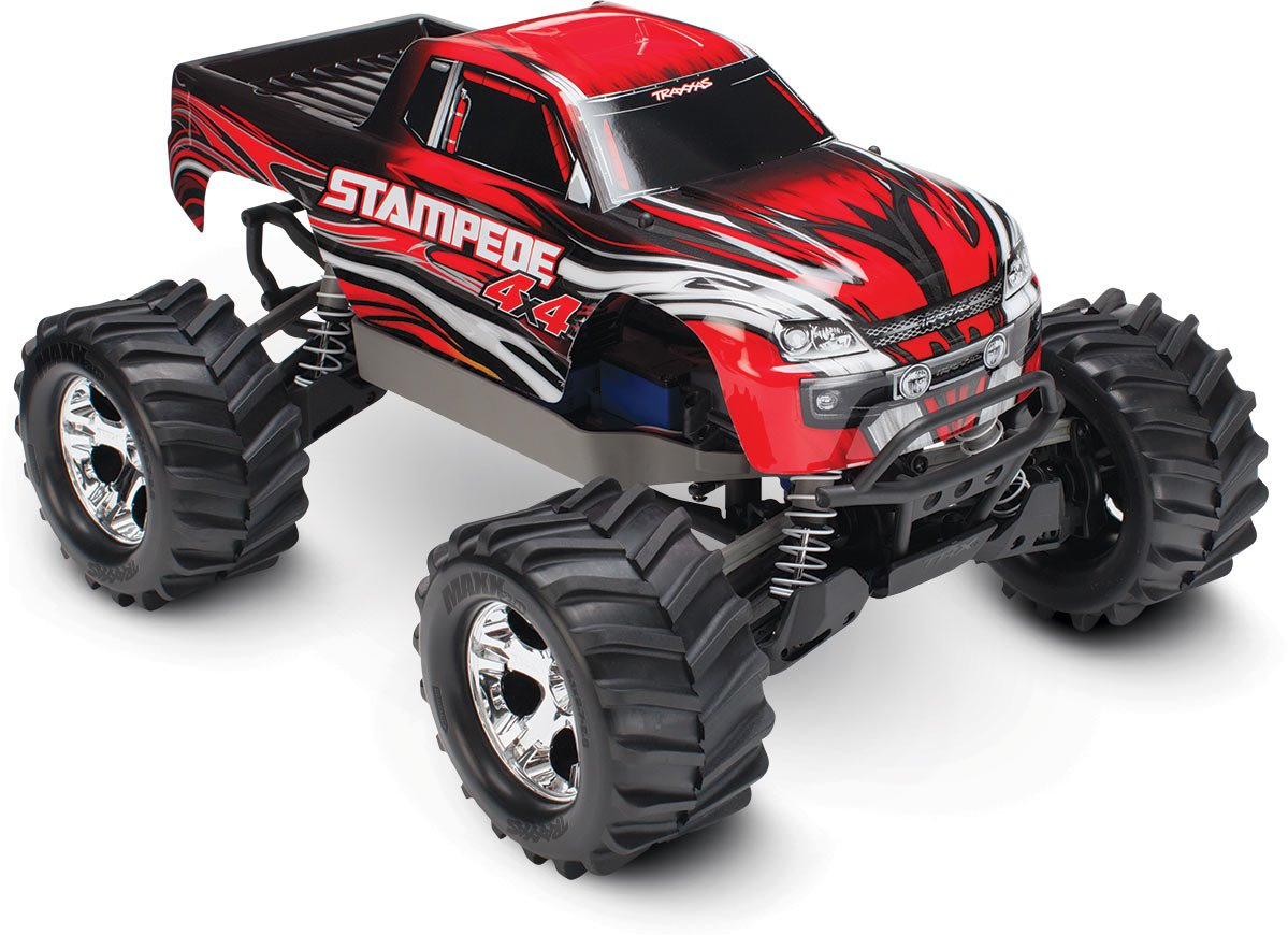 Traxxas Stampede 4X4: 1/10 Brushed Monster Truck - Red